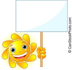sol, show, tegn