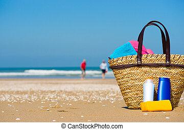 sol skærm, strand