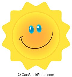 sol, sorrindo, personagem