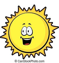 sol, sorrindo