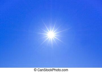 sol, starburst, com, raios