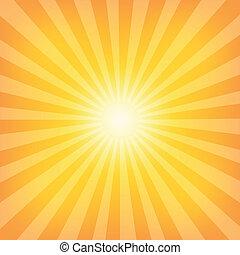 sol, sunburst, padrão