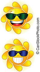 sol, sunglasses