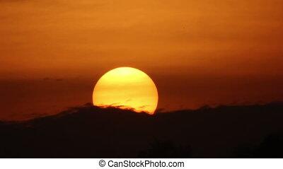 sol, timelaps, mar