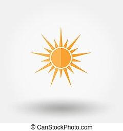 sol, vector., icono