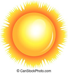 sol, vector, ilustración