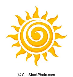 sol, vektor, ikon