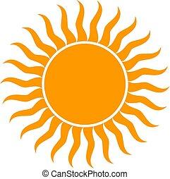 sol, vetorial, ilustração