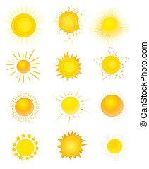 sol, vetorial, jogo