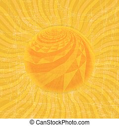 sol, vetorial, pattern., ilustração, sunburst