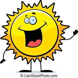 sol, waving