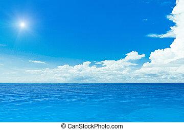 sol, y, océano