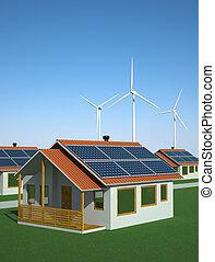 solaire, énergie éolienne