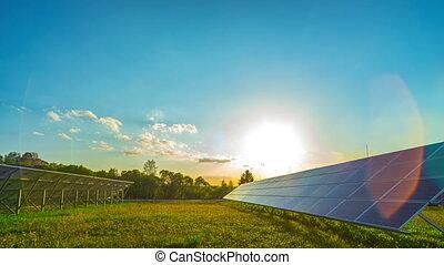 solaire, chronocinématographie, panneaux, panoramique, ...