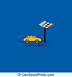 eco voiture panneau solaire bleu mignon concept juste clip art vectoriel rechercher. Black Bedroom Furniture Sets. Home Design Ideas