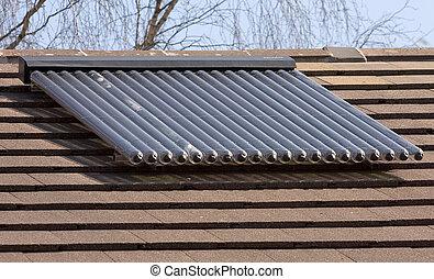 maison tube chauffage toit eau chaud solaire maison. Black Bedroom Furniture Sets. Home Design Ideas