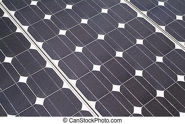 solaire, fond, panneau
