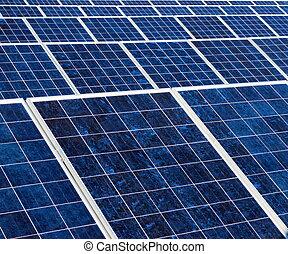 solaire, texture, panneau