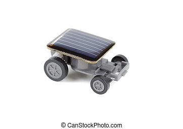 solar accionado, automóvil de juguete