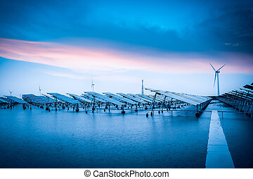 solar and wind power in bad weather