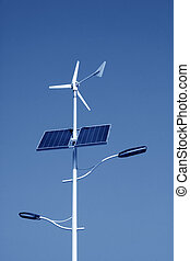 solar and wind power street lights