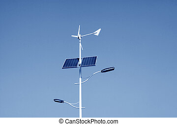 solar and wind power street lights