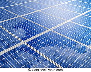 Solar battery background.