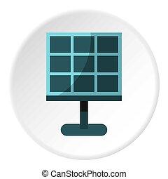 Solar battery icon circle