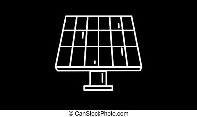 Solar Battery line icon on the Alpha Channel - Solar Battery...