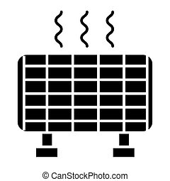 Solar battery solid icon. Sun energy vector illustration isolated on white. Solar panel glyph style design, designed for web and app. Eps 10.