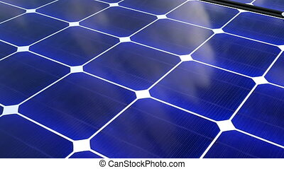 Solar battery surface, 3D illustration solar power...
