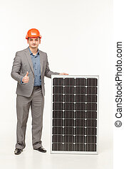 solar battery technology man