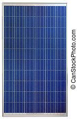 Solar Cell Cutout - Photovoltaic Solar Panel Isolated on...