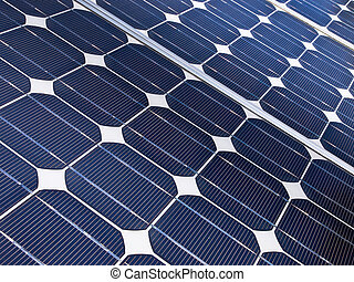 Solar cell detail - detail of a solar cell panel on a...