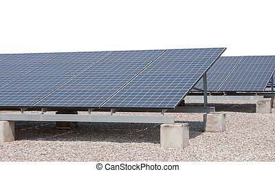 solar cell on steel structure