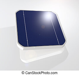 Solar cell - closeup of a tilted and suspended solar cell...