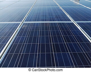 Solar Cell - solar cell on on roof producing electricity