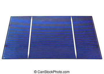 solar cell isolated on white background