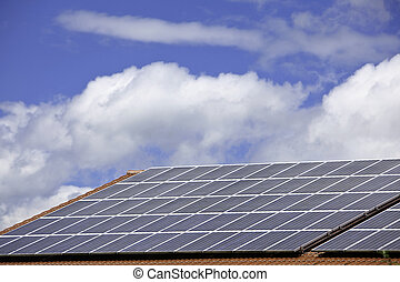 SOLAR CELLS FOR POWER PRODUCTION ON A ROOF - Solar cells...