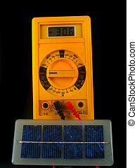 solar cells generating current