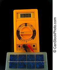 solar cells generating current