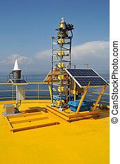 solar cells on oil loading platform