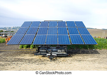 Solar cells panel - Alternative energy source, blue solar...
