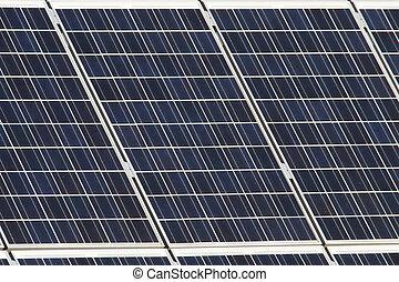 Solar cells - Closeup of solar cells on a roof