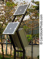 Solar cells. - Solar cells proliferated at the trial in...