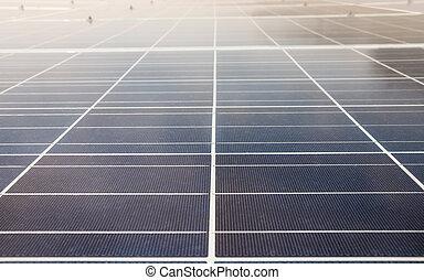 solar cells with sun light above