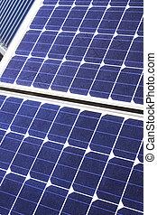 Solar cells of blue color