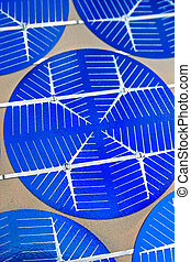 solar cells technology - Photon cells closeup for science...