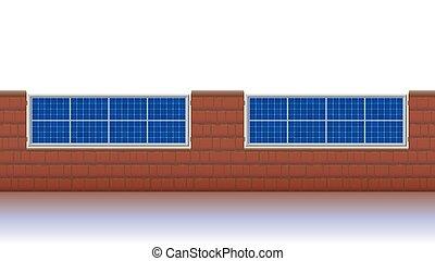 solar, cerca, painéis, photovoltaik, cercar