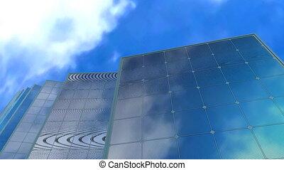 """""""solar, ciel, animation"""", fond, concept, panneau"""